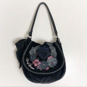 Juicy Couture Floral Stitch Saddle Bag